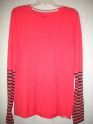 Patagonia Size XL Merino Wool Blend Long Sleeve Dark Coral Black Womens Shirt