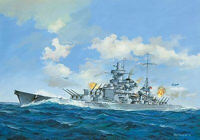 Scharnhorst Battleship 1/570 scale skill 4 Revell plastic model kit#5037