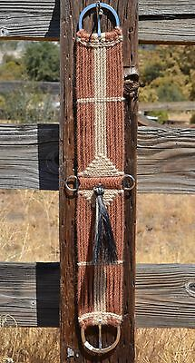 100% Mohair Vaquero Style Girth/Cinch with Shu-Fly -Tan/Natural -34""