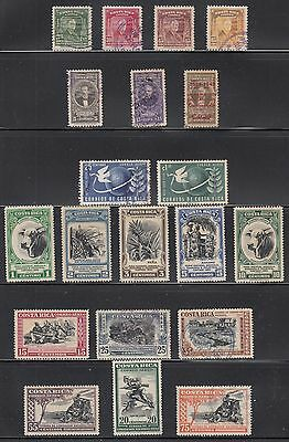 Costa Rica 1947-1950  Mint and used air collection. Mostly sound.