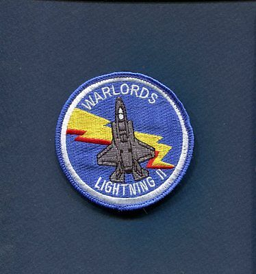 VMFAT-501 WARLORDS USMC MARINE CORPS F-35 LIGHTNING Bullet Squadron Patch
