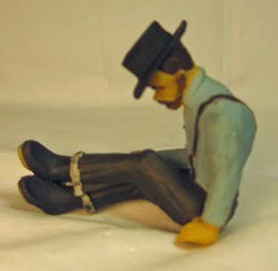 LUMBERJACK TIME OUT NUMBER 1 G  1:20.3 Model Railroad Painted Figure FGGLOG15A