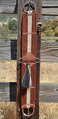 100% Mohair Vaquero Style Girth/Cinch w/Shu-Fly -Rusty Brown/Tan/Natural - 30""
