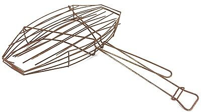 Vintage Antique Unusual Wire Basket Campfire Fish Cooker Rusty Primitive Rustic!