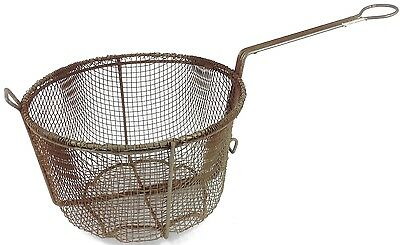 Vintage Antique Large Deep Wire Frying Basket Rusty Primitive Rustic!