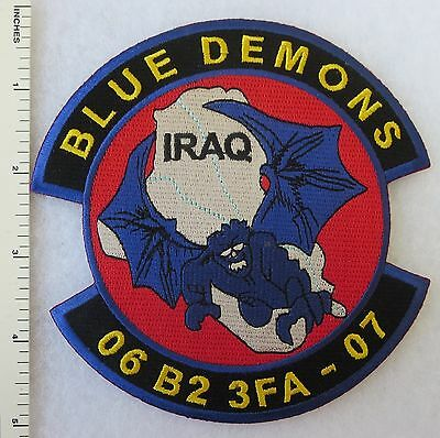 ORIGINAL Vintage US ARMY IRAQ PATCH 3rd FIELD ARTILLERY 2 BTN BLUE DEMONS