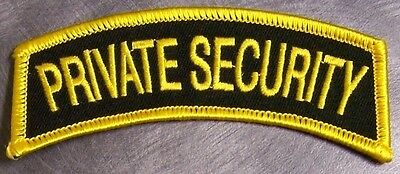 Embroidered Police Patch Private Security Shoulder Tab NEW