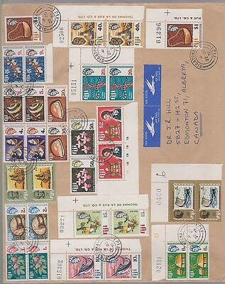 FIJI  260/295, 16 issues in pairs on large cover, 1970