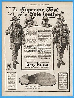 1918 Korry Krome Leather Shoe Soles Howard Co Corry PA Allied Soldiers WWI Ad