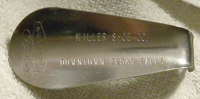 Vintage MILLER SHOES, Cedar Falls, Iowa IA Shoe Horn, Auditions, Natural Bridge