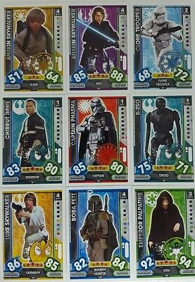 Star Wars FORCE ATTAX UNIVERSE Trading Card Set  1 - 224  topps  2017