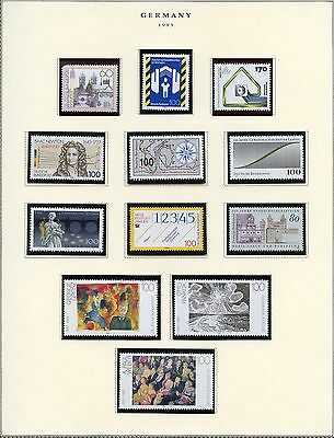 Germany Selection Of 1993  Mint & Used Stamps Face 40 Dm For Just The Mint