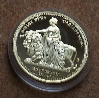 2006 Proof Copy Of1839  Victoria Gold £5.coin Una & Lion Ltd(Freepost)