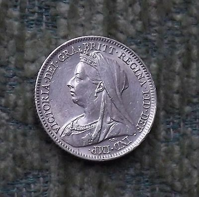 "1899 SIXPENCE, BRITISH SILVER COIN ""Superb"" (FREEPOST) K/32"