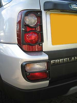 Rear Light lamp Guards Black for Land Rover Freelander 1 2005-07 facelift tail