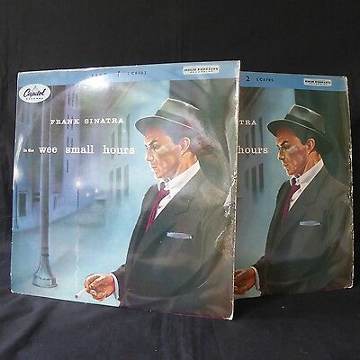 """FRANK SINATRA In The Wee Small Hours Part 1 & Part 2 CAPITOL UK 1st Press 10"""""""