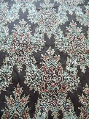 UNUSED vintage Tana lawn fabric from Liberty - brown paisley 85cms x 120cms (2)