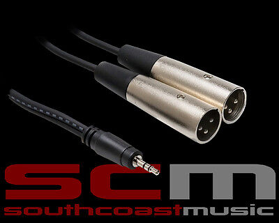 HOSA CYX403M 3.5mm TRS Stereo Mini-Phono Male to 2 x XLR Male Y-Cable 3m length