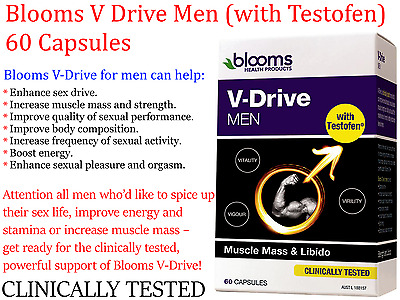 Blooms V Drive Men ( with Testofen ) 60 capsules ( Clinically tested formula )