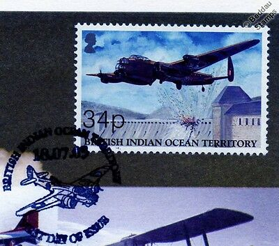 RAF AVRO LANCASTER Dambuster Aircraft Stamp FDC (100 Years of Powered Flight)