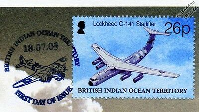 USAF Lockheed C-141 STARLIFTER Aircraft Stamp FDC (100 Years of Powered Flight)