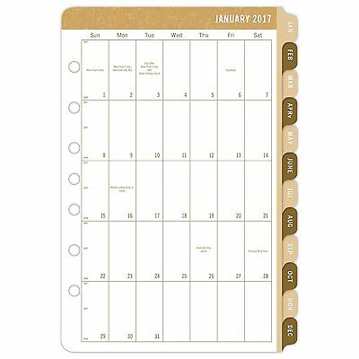 """Day-Timer Daily Planner Calendar Refill 2017, Two Page Per Day, 5-1/2 x 8-1/2"""","""