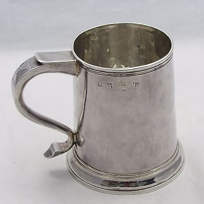 Antique Georgian George I Solid Silver Pint Tankard Mug 1721 Richard Bayley