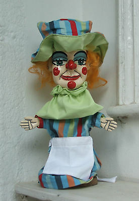 Judy Punch and Judy traditional puppet hand made in england from recycled wood