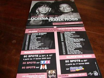 Donna Summer / Diana Ross !!!!!!!!rare French Press/kit