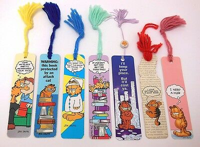 Vintage 1970's 1980's Garfield Bookmark Lot Good Cond. FAST FREE SHIP Jim Davis