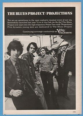 1967 Blues Project Projections Live at The Cafe Au Go Go band Verve Record ad