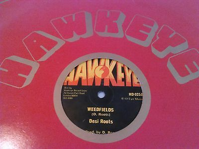 "Desi Roots - Weedfields / Mind Blowing Decisions 12"" / Rare Original Uk Hawkeye"