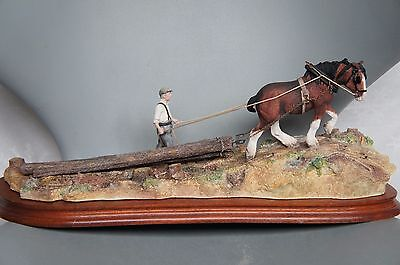 Border Fine Arts Logging B0700 Ltd Edt 39 Of 1750 Personally Signed By Ray Ayres