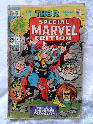 Special Marvel Edition 3 (1971) Journey into Mystery 123,124,125, Jack Kirby art