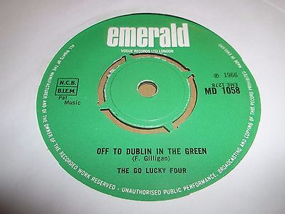 """The Go Lucky Four """" Off To Dublin In The Green """" 7"""" Single Excellent 1966"""