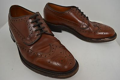 Vintage Loake Shoemakers Brown Lace Up Brogues Brogue English Made Shoes Size 8