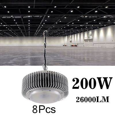 8 X 200W LED High Bay Light Warehouse Super White Factory Industrial Grade Lamp