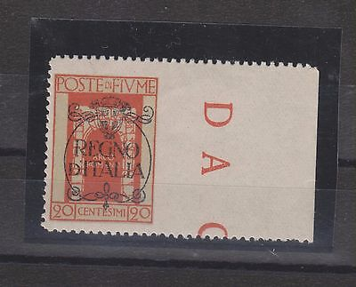 FIUME ,ITALY, CROATIA  20 c right imperforated MNH