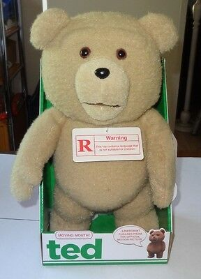 """15"""" TED Talking Bear (MOUTH DOES NOT MOVE) Adult 2012 MotionPicture Doll RATED R"""