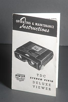 Operating & Maintenance Instructions TDC Stereo Vivid Deluxe Viewer