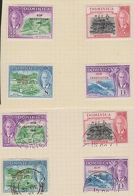 DOMINICA  137-140 New Constitution set mint & used