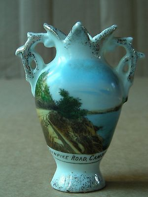 """turnpike Road Camden Maine"" Small Porcelain Souvenir Vase"