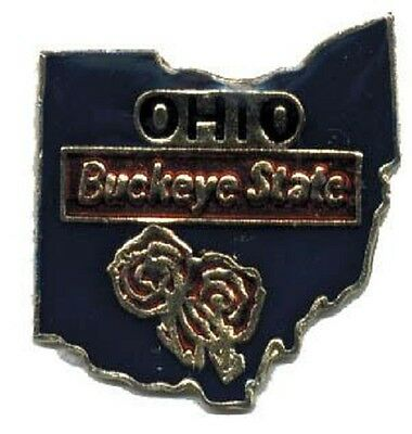Hat Lapel Push Pin Tie Tac State of Ohio NEW