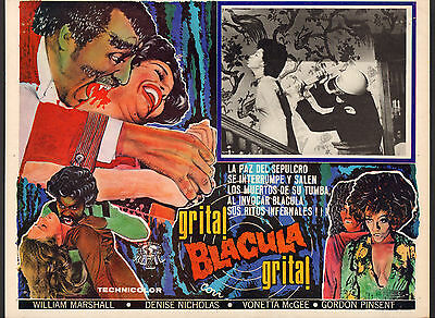 BLACULA Mexican Lobby Card Film/Movie Poster blaxploitation vampire horror