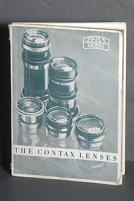 Zeiss Ikon The Contax Lenses 1930's Guide