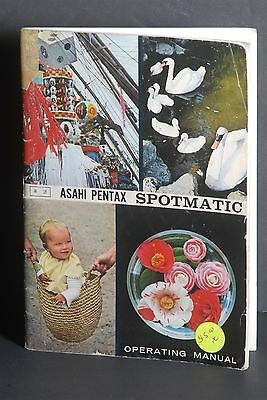 Asahi Pentax Spotmatic 1969 Camera Instruction Book / Manual / Guide