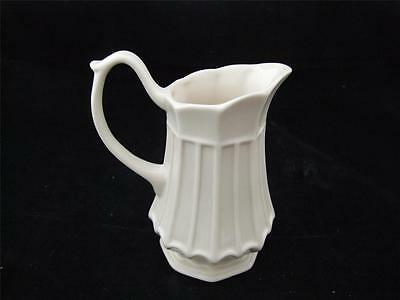 Cream Ware Ornate Ceramic Display Jug Vertical Ribs, Plain Handle.