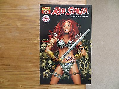 2005 Dynamite Red Sonja Comic # 0 Black Cover Signed Greg Land Art, With Poa