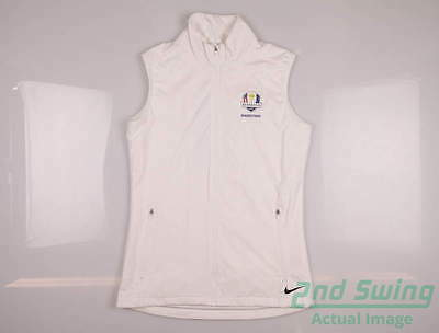 New Womens Nike 2016 Ryder Cup Shield Wind Vest X-Large XL White MSRP $78