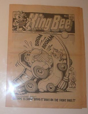KING BEE NO. 1 Underground Comic Tabloid Magazine 1969 R. Crumb S. Clay Wilson